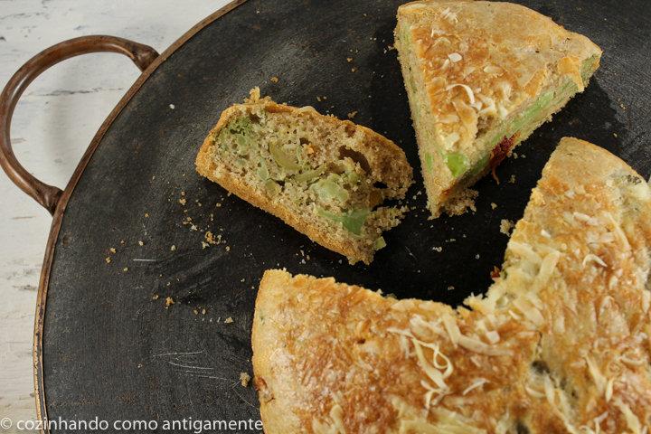 Torta de brócolis integral