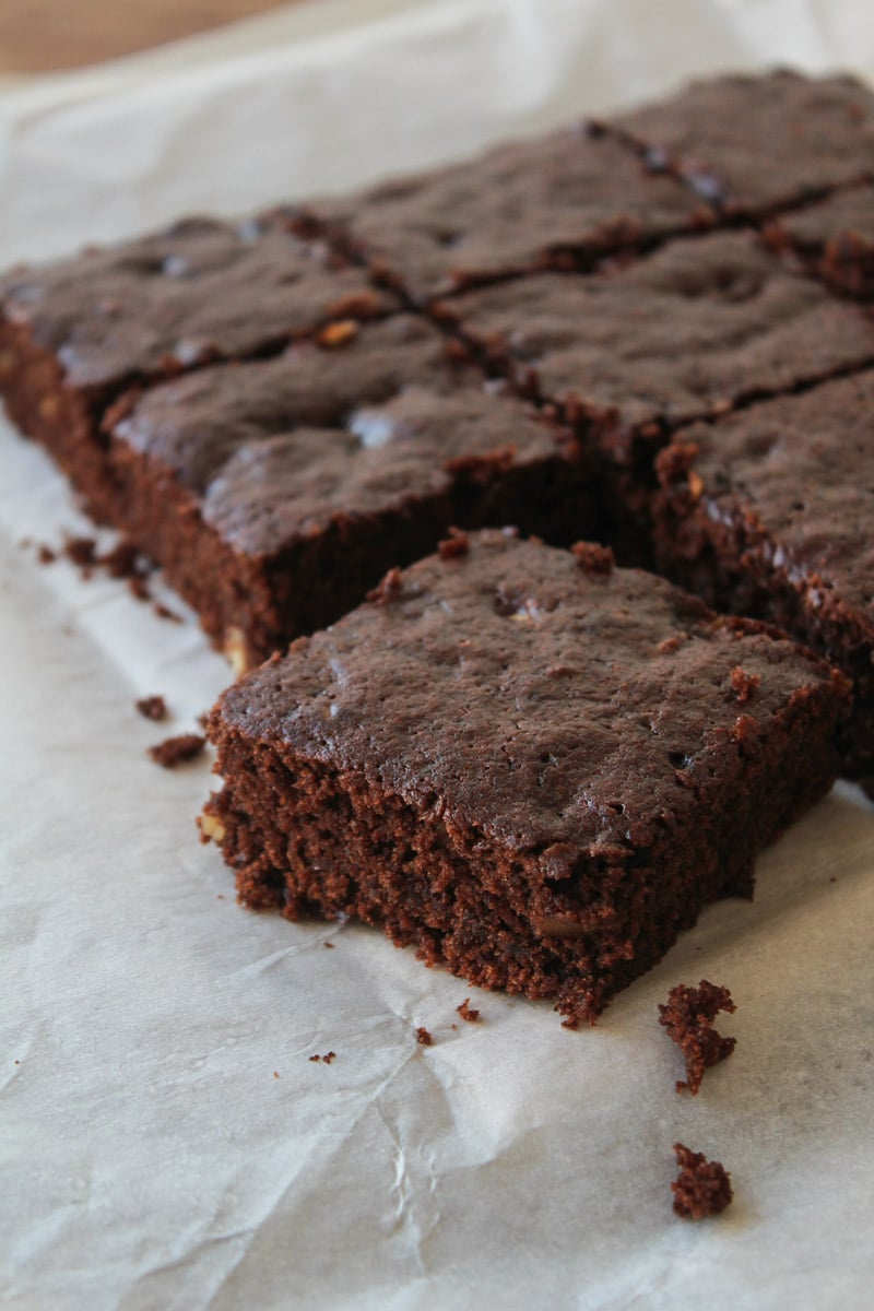 Brownie de chocolate vegano