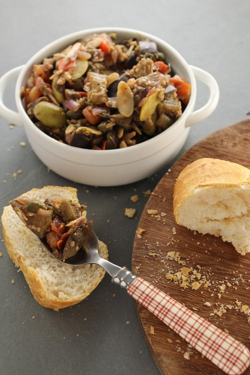 Caponata - Refogado siciliano de berinjela