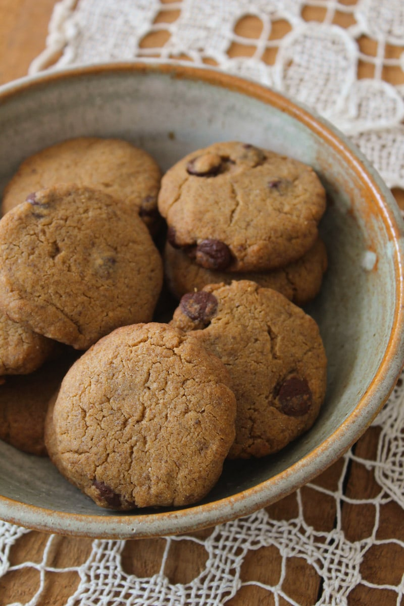 Cookies de manteiga de amendoim - veganos