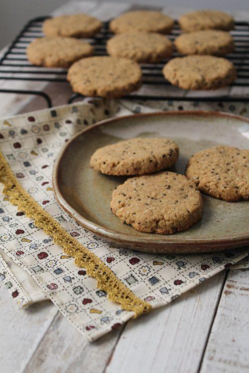 Cookies de castanha e melado