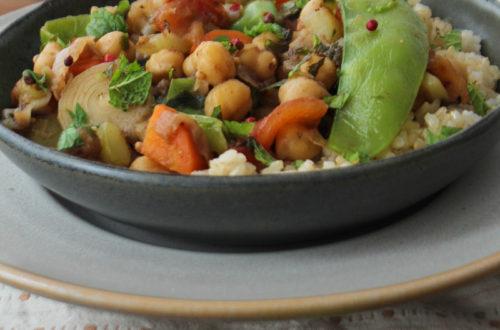 Cozido de legumes com grão de bico e tâmara