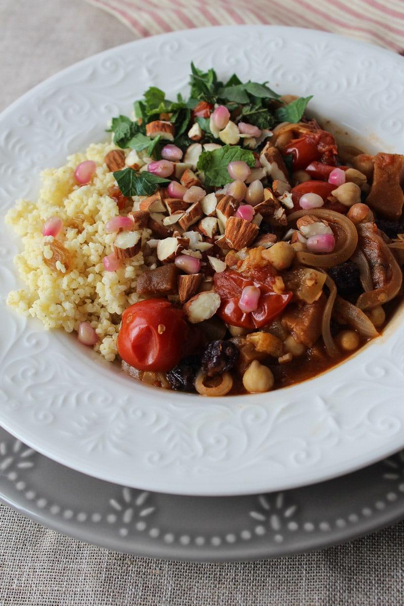 Cozido marroquino com legumes e especiarias