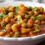 Curry de couve-flor e grão de bico