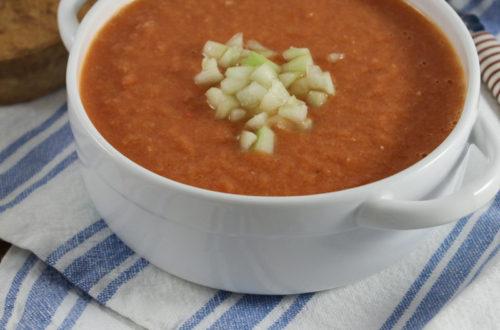 Gaspacho ou sopa fria de legumes