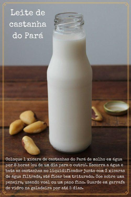 Leite de castanha do Pará