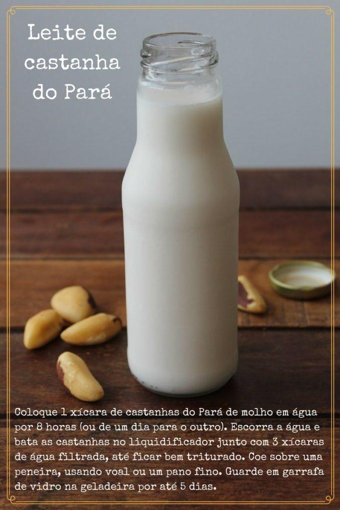 Leite de castanha do Pará - Ficha de receita rápida - Cozinhando como antigamente