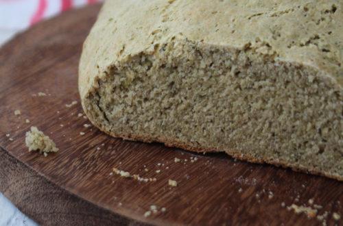 Pão de talos e folhas