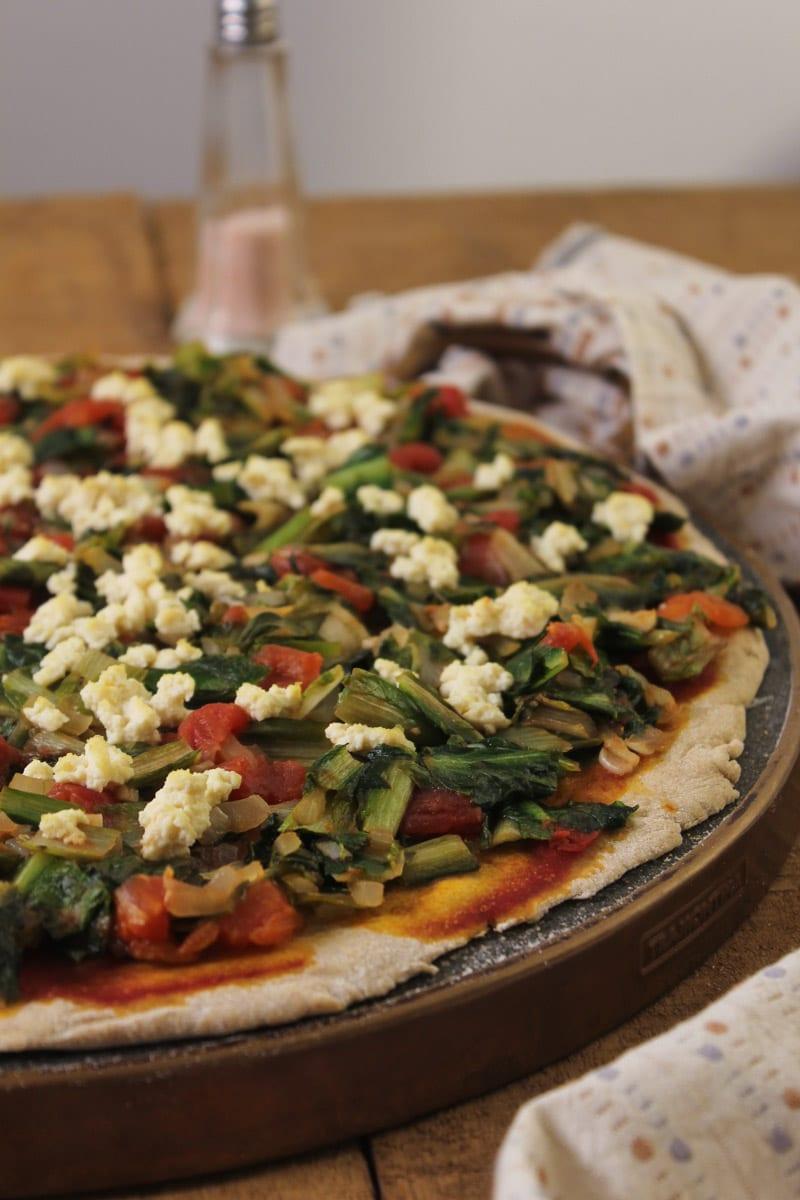 Pizza de escarola
