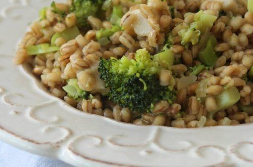 Risoto de cevadinha e brócolis