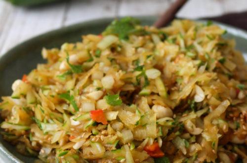 Salada de mamão verde