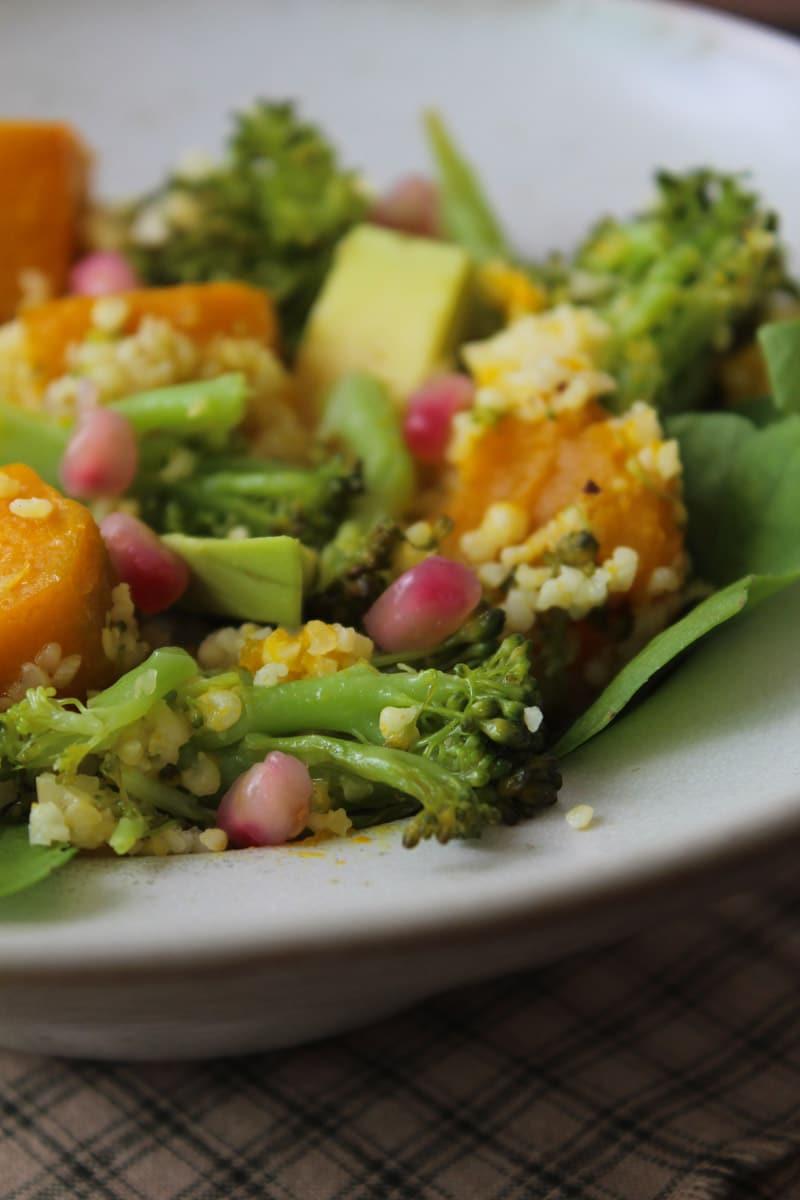 Salada de abóbora e painço