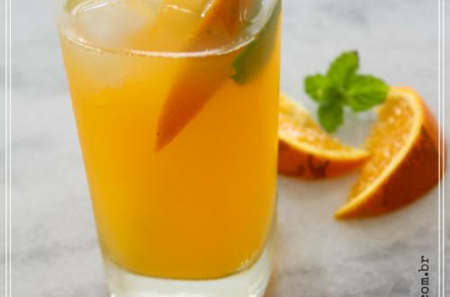 Suco de laranja com água de coco