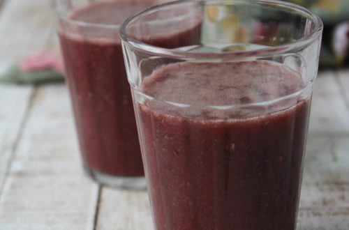 Suco de uva, laranja e chia